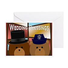Air Force Officer Bride & Groom Greeting Cards