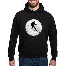 Skier Moon Hoodie