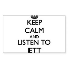 Keep Calm and Listen to Jett Decal