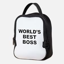 Worlds Best Boss Neoprene Lunch Bag