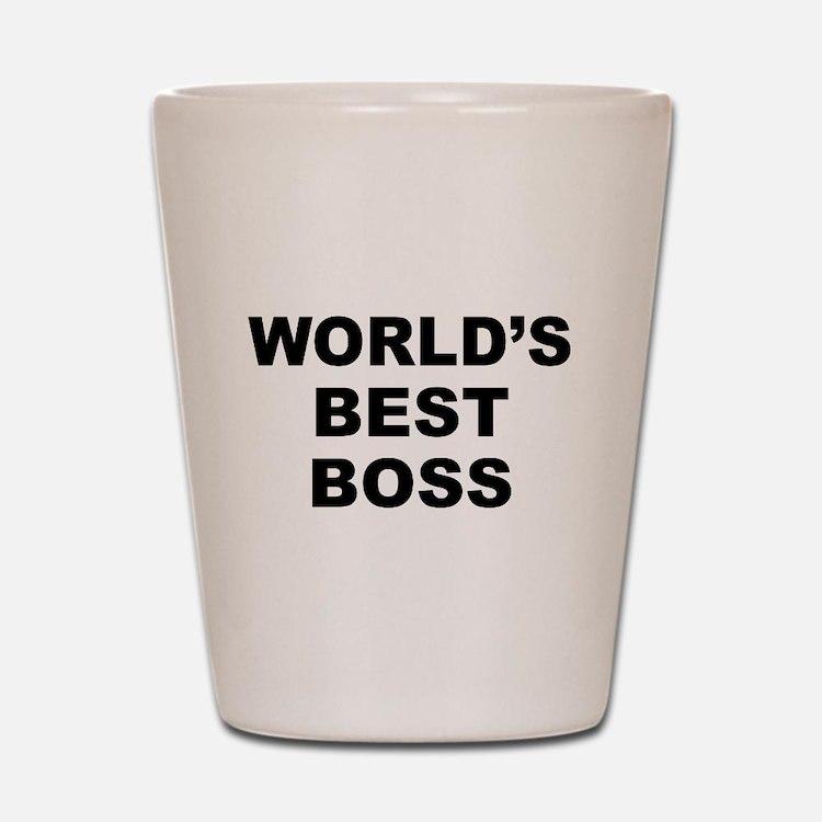 Worlds Best Boss Shot Glass