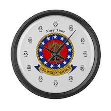 USS Independence CV-62 Large Wall Clock