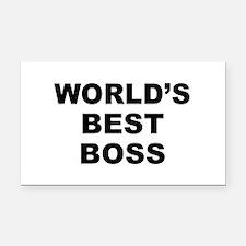 Worlds Best Boss Rectangle Car Magnet
