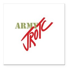 "Army JROTC Square Car Magnet 3"" x 3"""