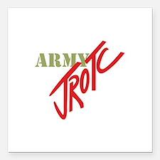 "Army JROTC Square Car Magnet 3"" x 3"""