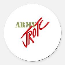 Army JROTC Round Car Magnet