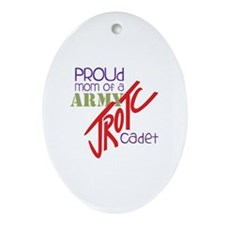 Proud Mom Ornament (Oval)