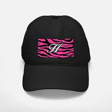 HOT PINK ZEBRA SILVER H Baseball Hat