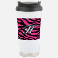 HOT PINK ZEBRA SILVER H Travel Mug