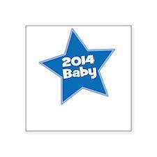 2014 Baby Blue Star Sticker