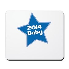2014 Baby Blue Star Mousepad