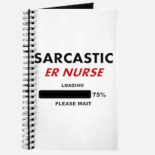 SARCASTIC ER NURSE LIGHTS Journal