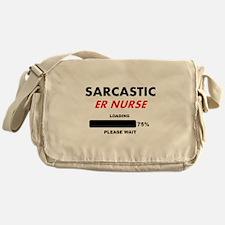 SARCASTIC ER NURSE LIGHTS Messenger Bag