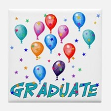 Graduation Balloons Tile Coaster