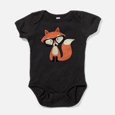 Hipster Red Fox Baby Bodysuit