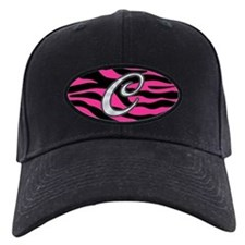 HOT PINK ZEBRA SILVER C Baseball Hat
