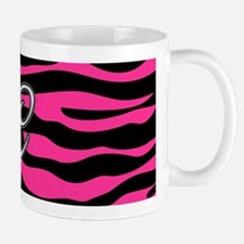 HOT PINK ZEBRA SILVER C Mugs