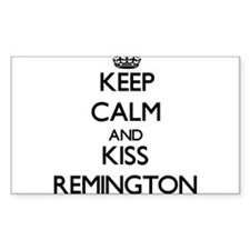 Keep Calm and Kiss Remington Decal