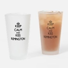 Keep Calm and Kiss Remington Drinking Glass