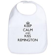 Keep Calm and Kiss Remington Bib