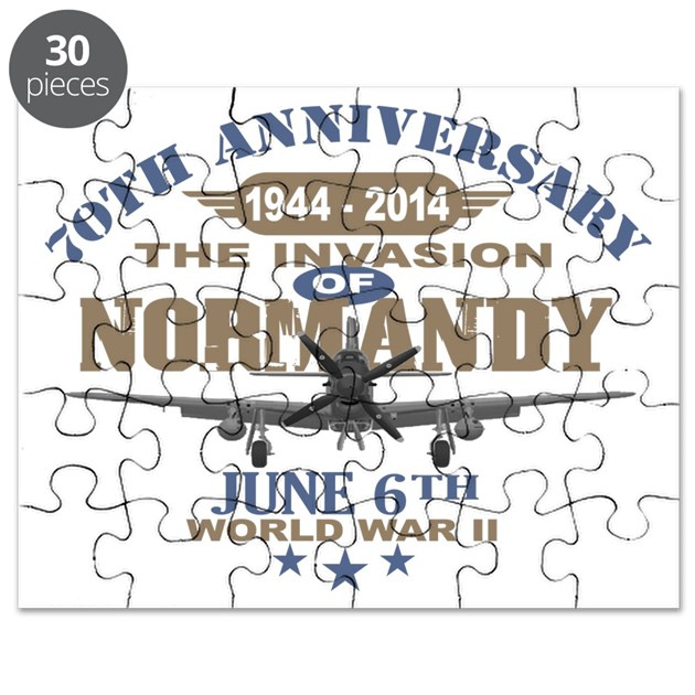 D day 70th anniversary battle of normandy puzzle by gb ddayp51mustang - Color of th anniversary ...