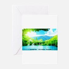 Waterfalls River Greeting Cards