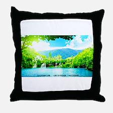 Waterfalls River Throw Pillow