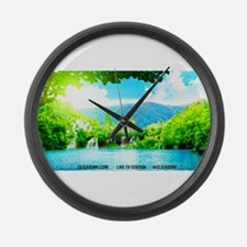 Waterfalls River Large Wall Clock