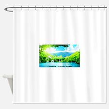 Waterfalls River Shower Curtain