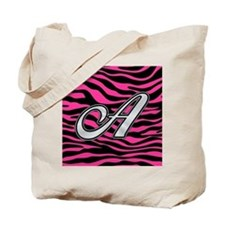 HOT PINK ZEBRA SILVER A Tote Bag
