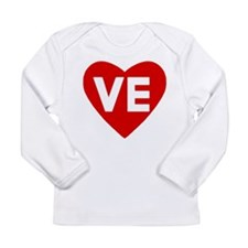 Ve (love) Heart Infant Long Sleeve T-Shirt