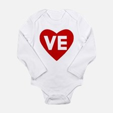 Ve (love) Heart Long Sleeve Infant Body Suit