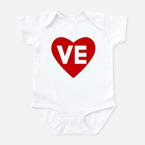 Ve (love) Heart Infant Body Suit