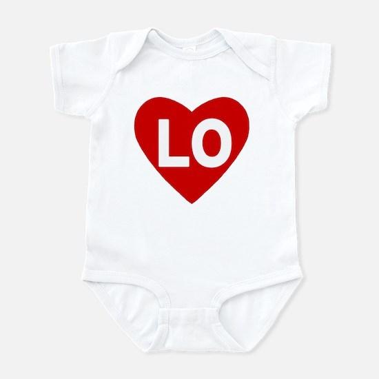 Lo (love) Heart Infant Body Suit