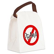 NO DRAMA Canvas Lunch Bag