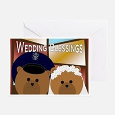 Air Force Officer Groom & Bride Greeting Cards