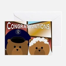 Air Force Enlisted Groom Bride Greeting Cards