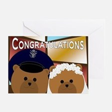 Air Force Officer Groom &bride Greeting Cards