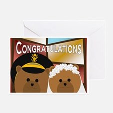 U. S. Army Officer Groom And Bride Greeting Cards