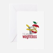 Team Weightloss Greeting Cards