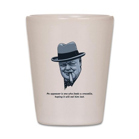 Churchill -Appeasers Shot Glass