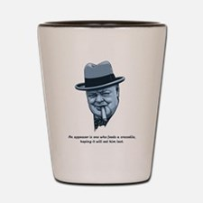Churchill -Appeasers Shot Glass