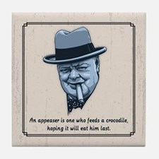 Churchill -Appeasers Tile Coaster