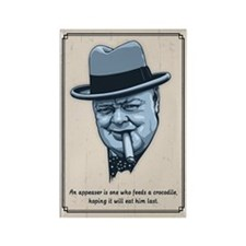 Churchill -Appeasers Rectangle Magnet