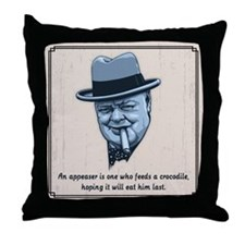 Churchill -Appeasers Throw Pillow