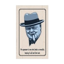 Churchill -Appeasers Decal