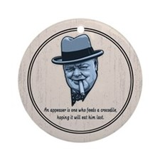 Churchill -Appeasers Ornament (Round)