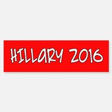 HILLARY 2016 Red White Bumper Bumper Sticker