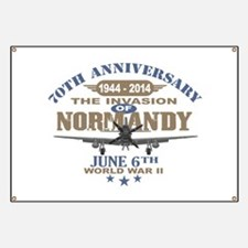 D-Day 70th Anniversary Battle of Normandy Banner