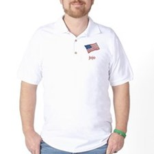 Old Glory Personalized July 4 Pop T-Shirt